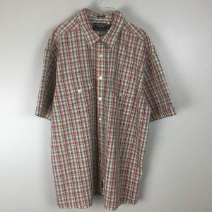 American eagle men's casual plaid axle shirt (L)